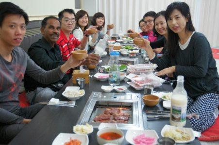ezSAM Study Tour - Eating at Dae Gwan Ryeong